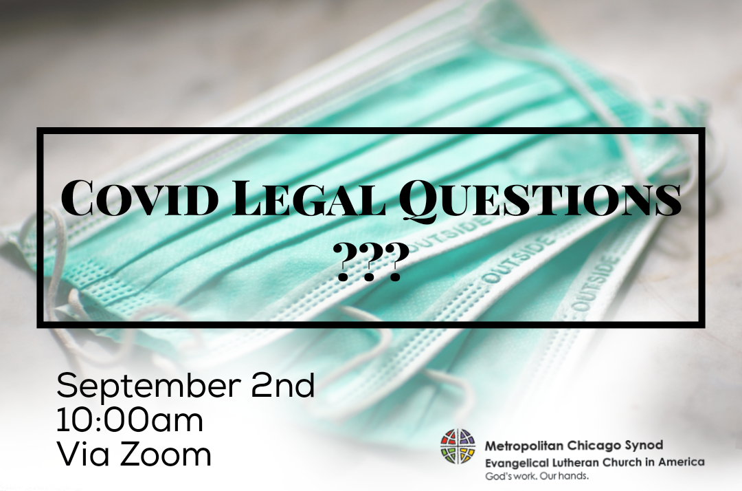 Answers to COVID Legal Questions for Congregations: A Zoom Meeting